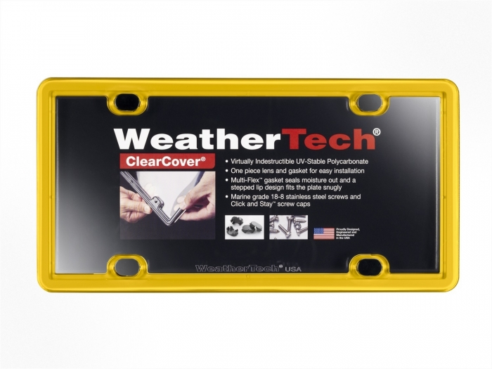 Golden Yellow - WeatherTech ClearCover License Plate Cover