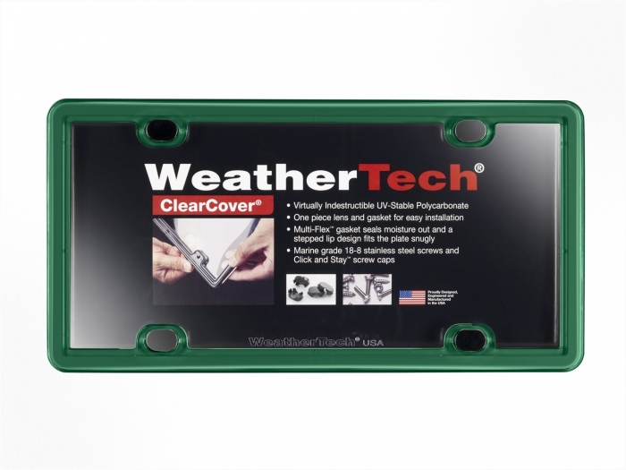 Green - WeatherTech ClearCover License Plate Cover