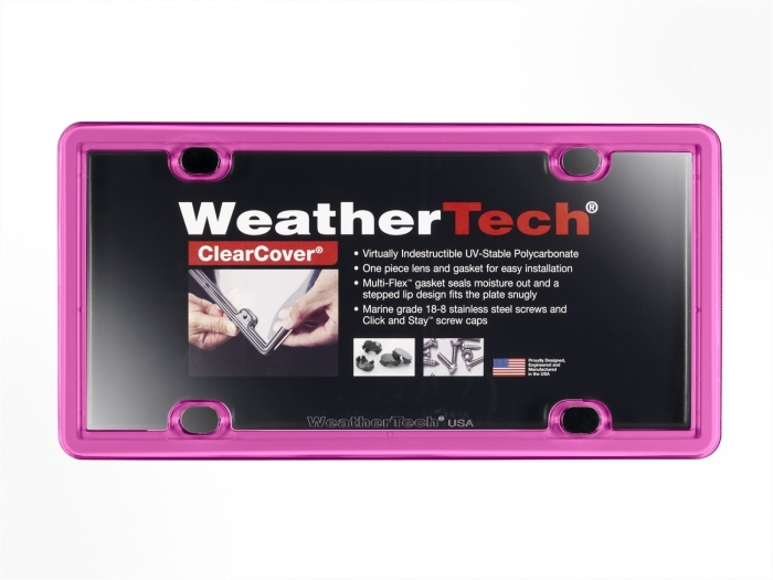 Hot Pink - WeatherTech ClearCover License Plate Cover