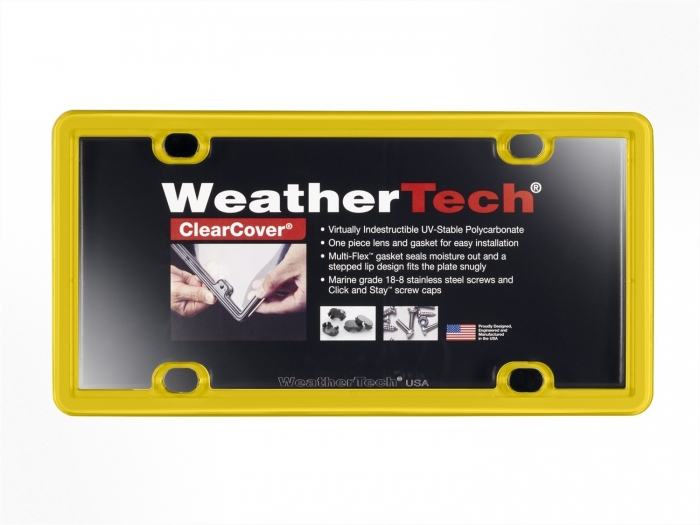 Yellow - WeatherTech ClearCover License Plate Cover