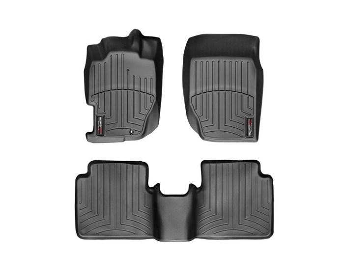 WeatherTech DigitalFit Floor Mats for 1998-2002 Honda Accord [Covers Front & Rear, Black] (WEA94722)