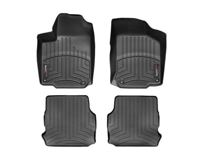 WeatherTech DigitalFit Floor Mats for 1998-2010 Volkswagen Beetle [Covers Front & Rear, Black] (WEA94663)