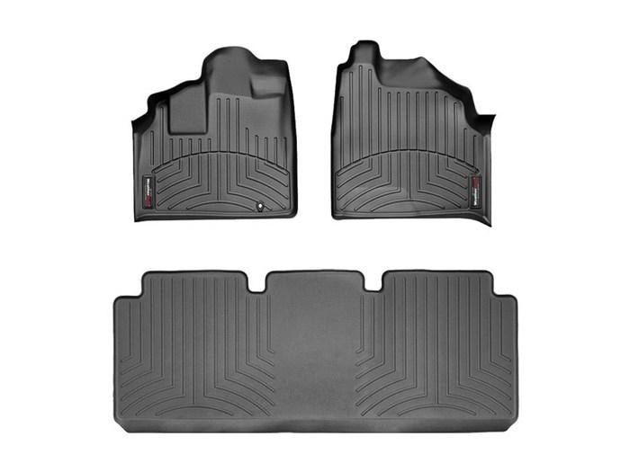 WeatherTech DigitalFit Floor Mats for 1999-2004 Honda Odyssey [Covers Front & Rear, Black] (WEA94945)