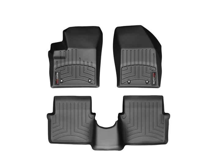 WeatherTech DigitalFit Floor Mats for 200/Avenger [Covers Front & Rear, Black] (WEA95039)