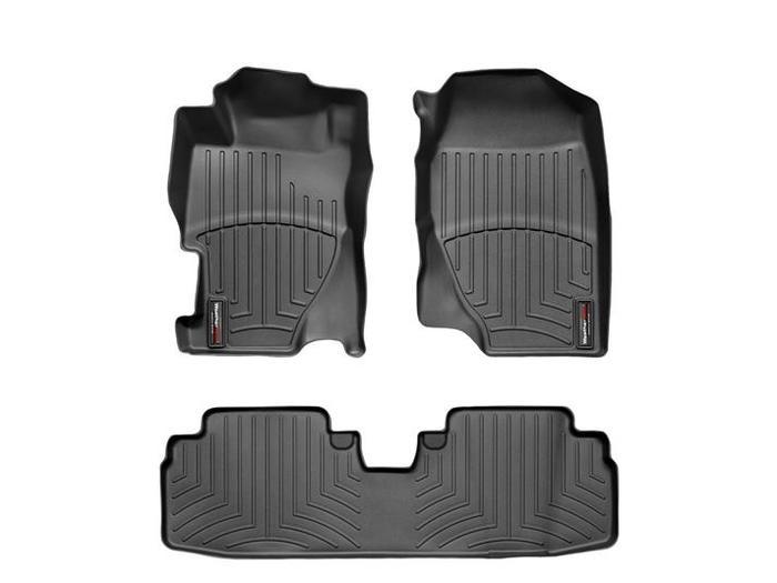 WeatherTech DigitalFit Floor Mats for 2001-2005 Honda Civic [Covers Front & Rear, Black] (WEA94719)