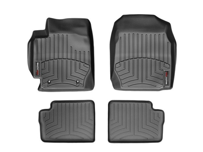 WeatherTech DigitalFit Floor Mats for 2003-2008 Toyota Corolla [Covers Front & Rear, Black] (WEA94742)