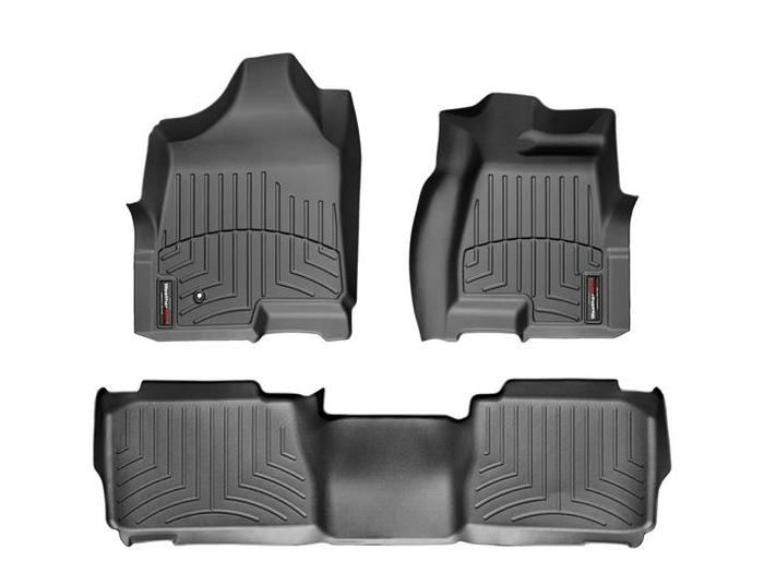 WeatherTech DigitalFit Floor Mats for 2003-2009 Hummer H2 [Covers Front & Rear, Black] (WEA94725)