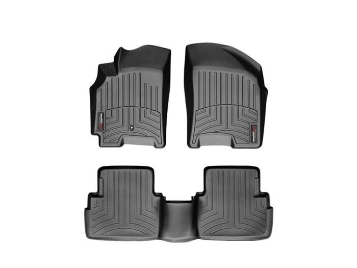 WeatherTech DigitalFit Floor Mats for 2004-2008 Suzuki Forenza [Covers Front & Rear, Black] (WEA94728)