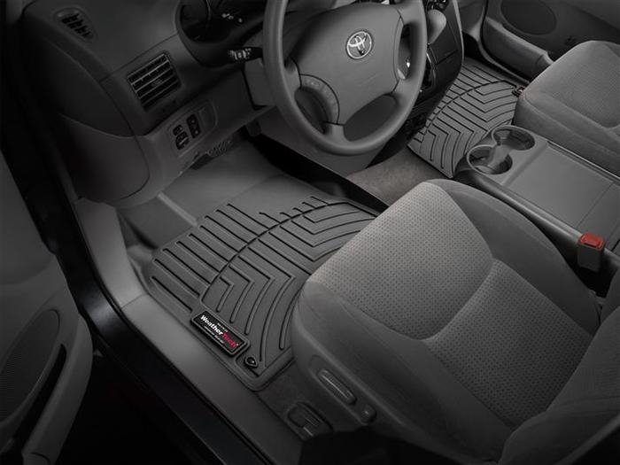 WeatherTech DigitalFit Floor Mats for 2004-2010 Toyota Sienna [Covers Front, Black] (WEA94834)