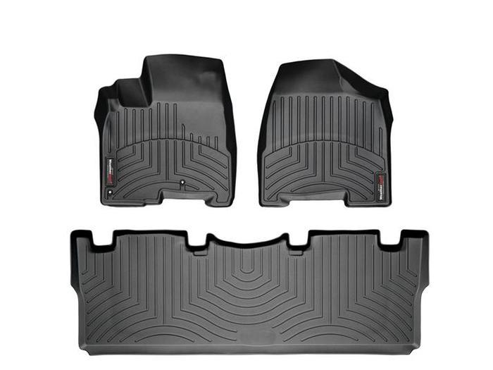 WeatherTech DigitalFit Floor Mats for 2004-2010 Toyota Sienna [Covers Front & Rear, Black] (WEA94835)