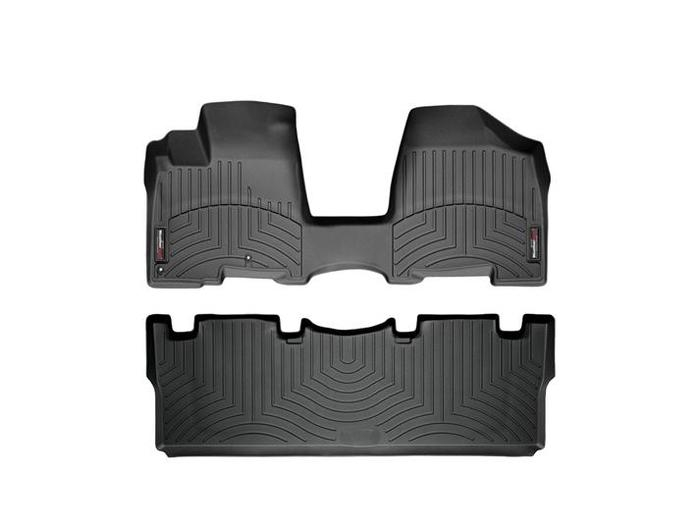 WeatherTech DigitalFit Floor Mats for 2004-2010 Toyota Sienna [Covers Front & Rear, Black] (WEA94844)