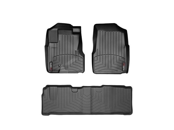 WeatherTech DigitalFit Floor Mats for 2005-2006 Honda CR-V [Covers Front & Rear, Black] (WEA94947)