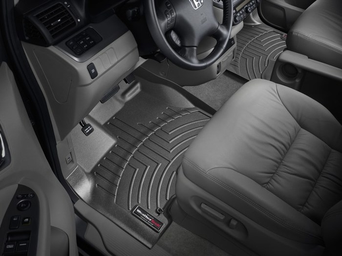 WeatherTech DigitalFit Floor Mats for 2005-2010 Honda Odyssey [Covers Front, Black] (WEA94831)