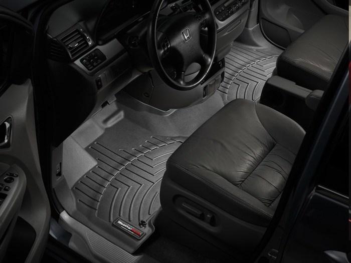 WeatherTech DigitalFit Floor Mats for 2005-2010 Honda Odyssey [Covers Front, Black] (WEA94839)