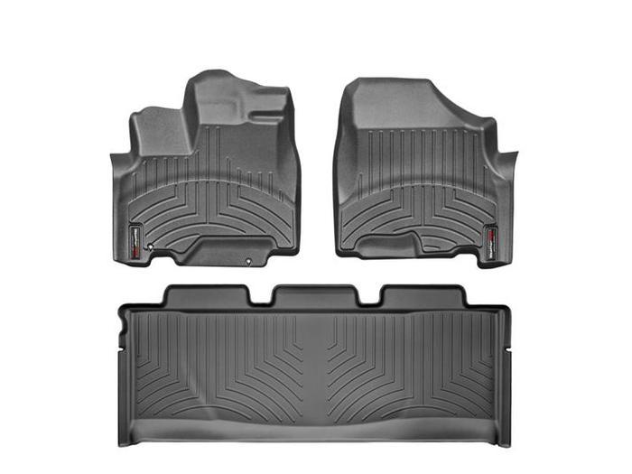 WeatherTech DigitalFit Floor Mats for 2005-2010 Honda Odyssey [Covers Front & Rear, Black] (WEA94833)