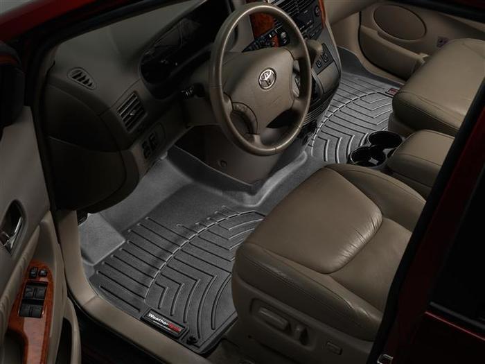 WeatherTech DigitalFit Floor Mats for 2005-2010 Toyota Sienna [Covers Front, Black] (WEA94842)