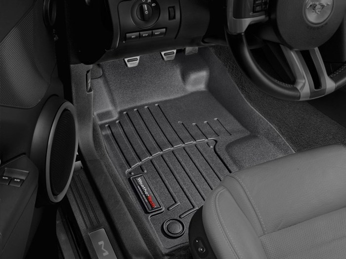 WeatherTech DigitalFit Floor Mats for 2005-2014 Ford Mustang [Covers Front, Black] (WEA95188)