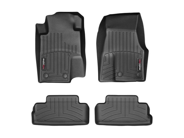 WeatherTech DigitalFit Floor Mats for 2005-2014 Ford Mustang [Covers Front & Rear, Black] (WEA95189)
