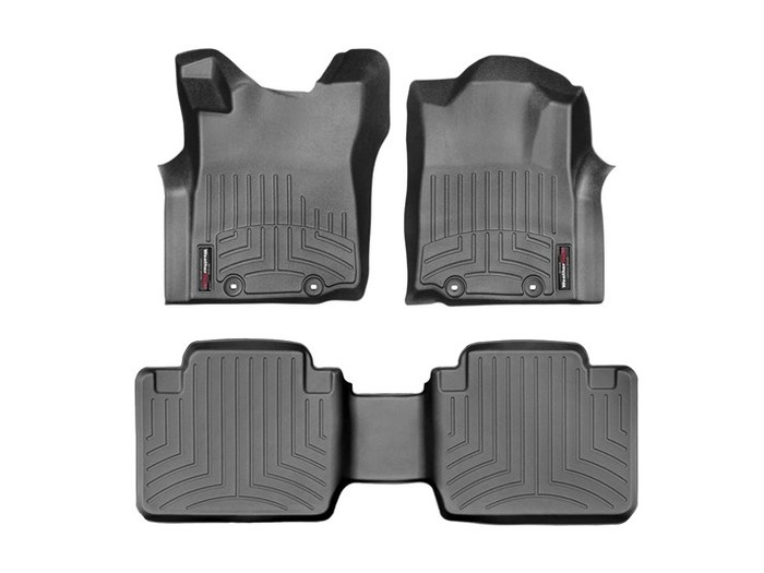 WeatherTech DigitalFit Floor Mats for 2005-2015 Toyota Tacoma [Covers Front & Rear, Black] (WEA95156)