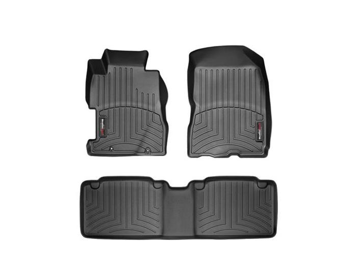 WeatherTech DigitalFit Floor Mats for 2006-2011 Honda Civic [Covers Front & Rear, Black] (WEA94970)
