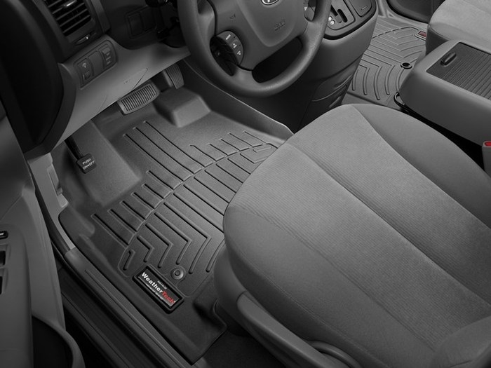 WeatherTech DigitalFit Floor Mats for 2006-2014 Kia Sedona [Covers Front, Black] (WEA95384)