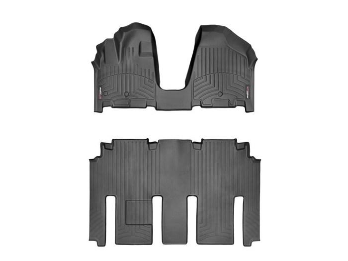 WeatherTech DigitalFit Floor Mats for 2006-2014 Kia Sedona [Covers Front & Rear, Black] (WEA95382)