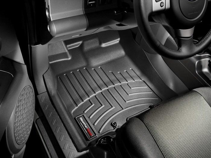 WeatherTech DigitalFit Floor Mats for 2007-2010 Toyota FJ Cruiser [Covers Front, Black] (WEA94819)