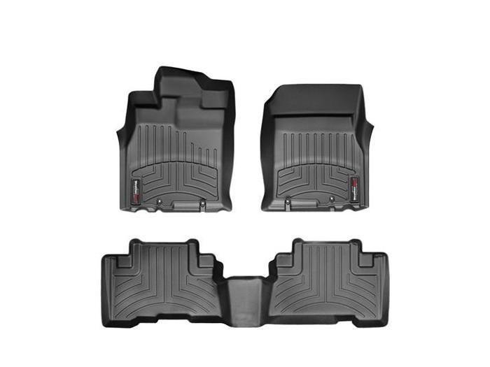 WeatherTech DigitalFit Floor Mats for 2007-2010 Toyota FJ Cruiser [Covers Front & Rear, Black] (WEA94818)