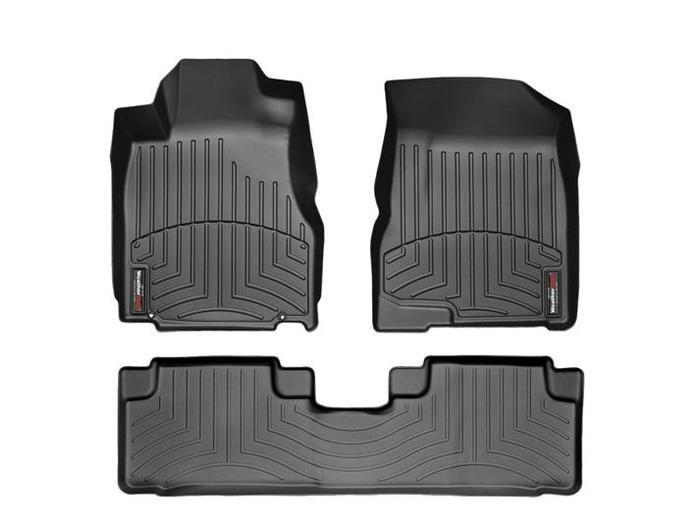 WeatherTech DigitalFit Floor Mats for 2007-2011 Honda CR-V [Covers Front & Rear, Black] (WEA94838)