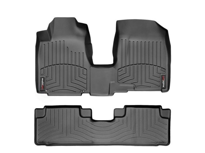 WeatherTech DigitalFit Floor Mats for 2007-2011 Honda CR-V [Covers Front & Rear, Black] (WEA94846)
