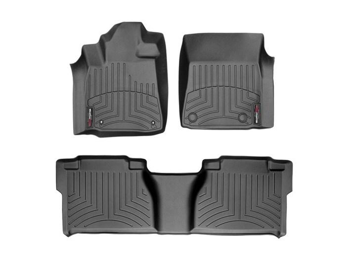 WeatherTech DigitalFit Floor Mats for 2007-2011 Toyota Tundra [Covers Front & Rear, Black] (WEA94704)