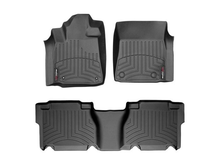 WeatherTech DigitalFit Floor Mats for 2007-2011 Toyota Tundra [Covers Front & Rear, Black] (WEA94705)