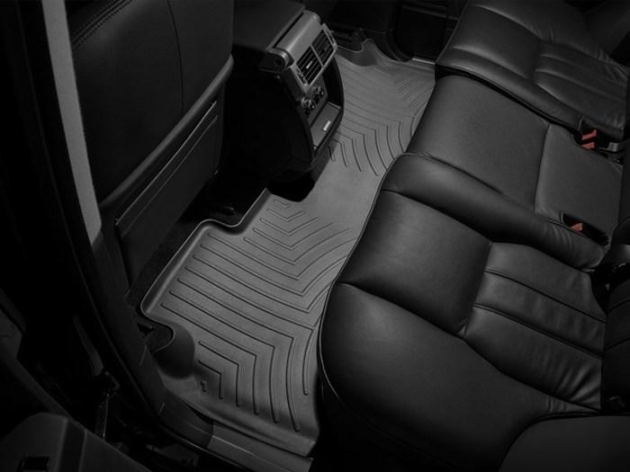 WeatherTech DigitalFit Floor Mats for 2007-2012 Land Rover Range Rover [Covers Rear, Black] (WEA94745)