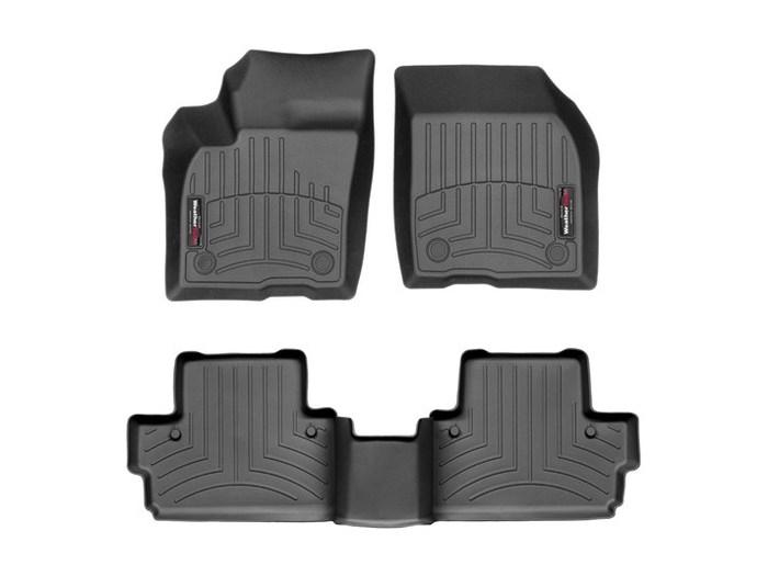 WeatherTech DigitalFit Floor Mats for 2007-2012 Volvo C30 [Covers Front & Rear, Black] (WEA94711)