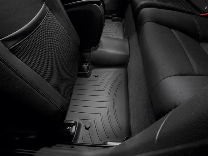WeatherTech DigitalFit Floor Mats for 2007-2012 Volvo C30 [Covers Rear, Black] (WEA94714)