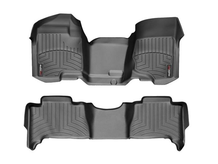 WeatherTech DigitalFit Floor Mats for 2007-2014 Chevrolet Tahoe [Covers Front & Rear, Black] (WEA94761)