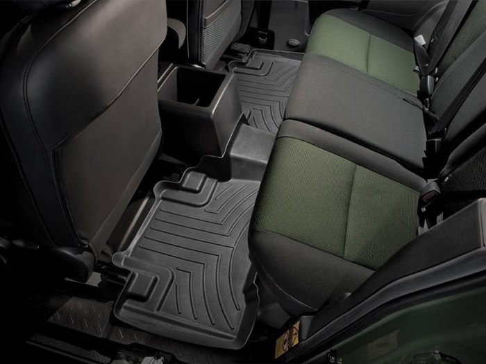 WeatherTech DigitalFit Floor Mats for 2007-2014 Toyota FJ Cruiser [Covers Rear, Black] (WEA94820)
