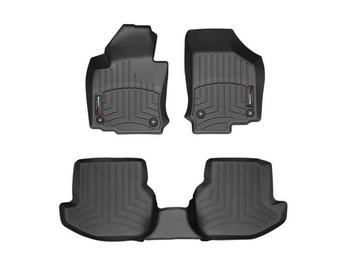 WeatherTech DigitalFit Floor Mats for 2007-2016 Volkswagen Eos [Covers Front & Rear, Black] (WEA94678)