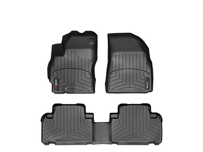 WeatherTech DigitalFit Floor Mats for 2008-2010 Mazda 5 [Covers Front & Rear, Black] (WEA94692)