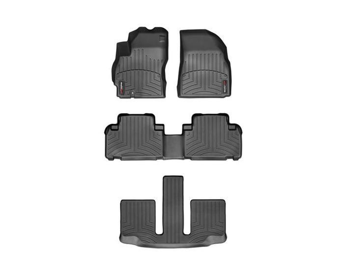 WeatherTech DigitalFit Floor Mats for 2008-2010 Mazda 5 [Covers Front & Rear, Black] (WEA94693)