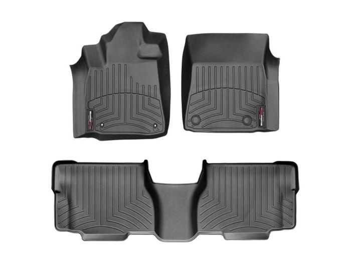 WeatherTech DigitalFit Floor Mats for 2008-2011 Toyota Sequoia [Covers Front & Rear, Black] (WEA94706)