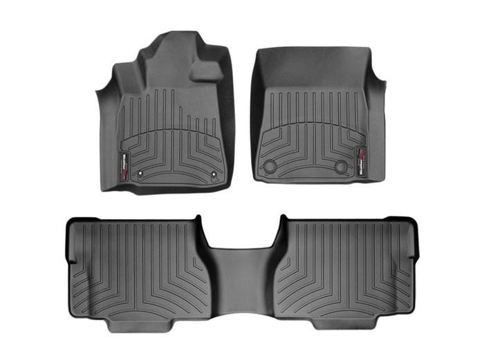 WeatherTech DigitalFit Floor Mats for 2008-2011 Toyota Sequoia [Covers Front & Rear, Black] (WEA94709)