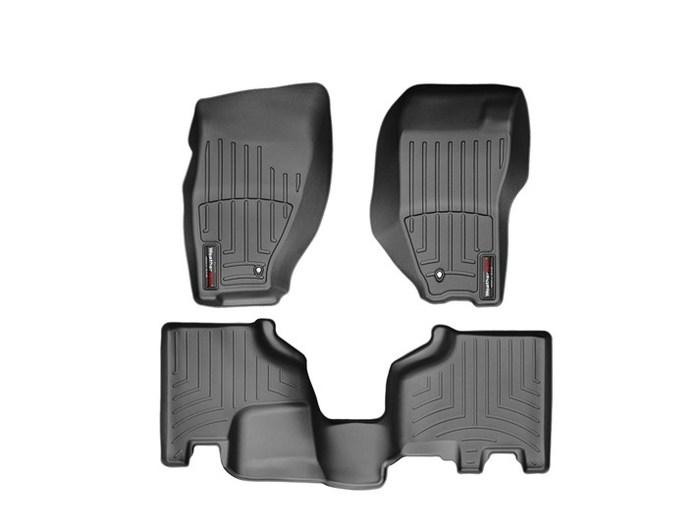 WeatherTech DigitalFit Floor Mats for 2008-2012 Jeep Liberty [Covers Front & Rear, Black] (WEA95021)