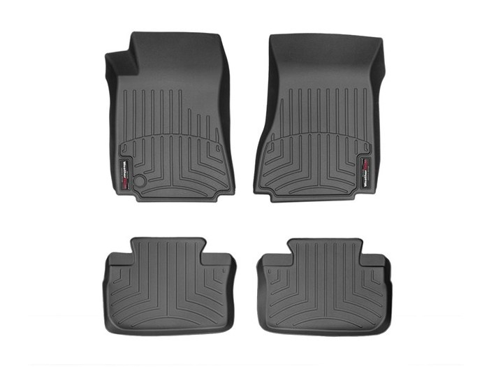 WeatherTech DigitalFit Floor Mats for 2008-2013 Cadillac CTS [Covers Front & Rear, Black] (WEA95320)