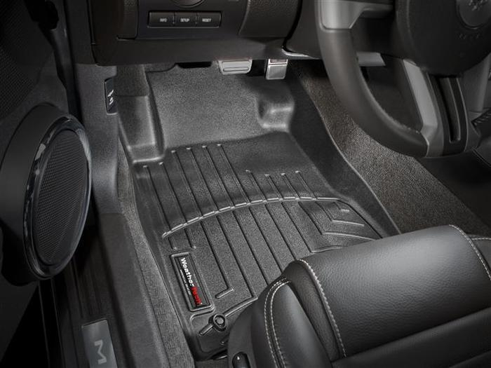 WeatherTech DigitalFit Floor Mats for 2009-2010 Ford Mustang [Covers Front, Black] (WEA94698)