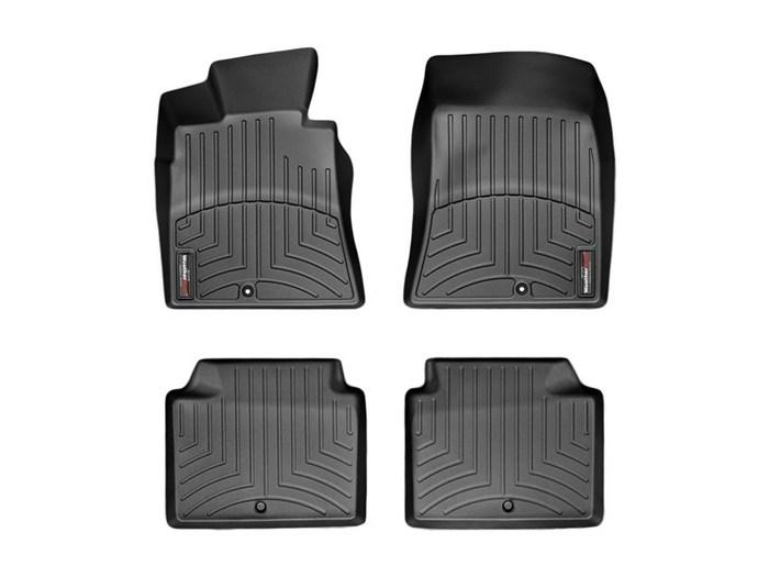 WeatherTech DigitalFit Floor Mats for 2009-2010 Hyundai Genesis [Covers Front & Rear, Black] (WEA94803)