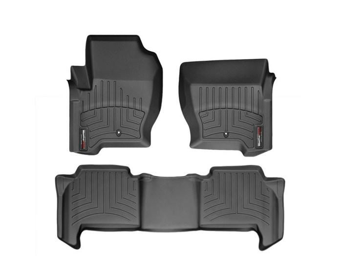 WeatherTech DigitalFit Floor Mats for 2009-2013 Land Rover Range Rover Sport [Covers Front & Rear, Black] (WEA94964)