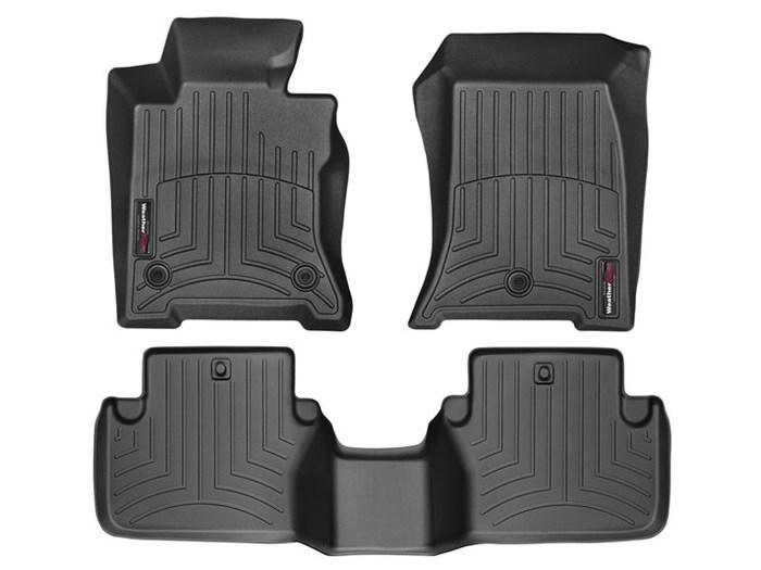 WeatherTech DigitalFit Floor Mats for 2009-2014 Acura TL [Covers Front & Rear, Black] (WEA95353)
