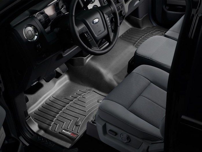 WeatherTech DigitalFit Floor Mats for 2009-2014 Ford F-150 [Covers Front, Black] (WEA94763)
