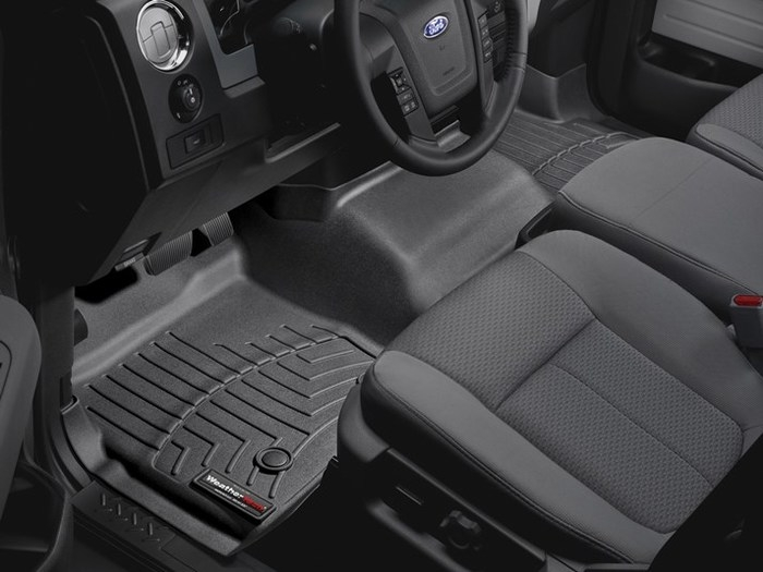 WeatherTech DigitalFit Floor Mats for 2009-2014 Ford F-150 [Covers Front, Black] (WEA95063)